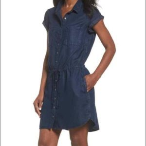 NWT Paige cuffed shirt dress